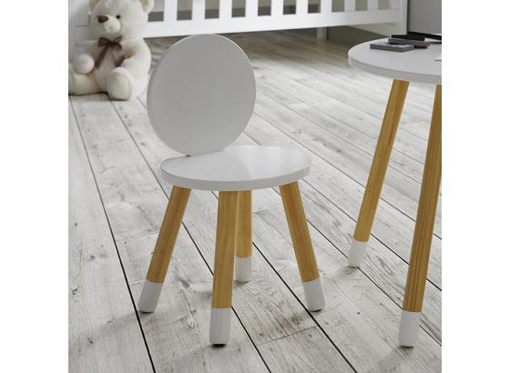 Detská Stolička Leni - biela/farby pínie, Moderný, drevo (27,4/51cm) - Modern Living