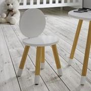 Dětská Židle Leni - bílá/barvy pinie, Moderní, dřevo (27,4/51cm) - Modern Living