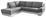 Wohnlandschaft in L-Form Nardo 221x264 cm - Chromfarben/Dunkelgrau, MODERN, Textil (221/264cm)