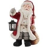 Weihnachtsmann Benedikt - Rot/Goldfarben, KONVENTIONELL, Stein (30/45/20cm) - Ombra