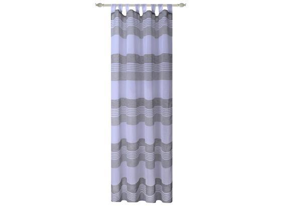 Kombivorhang Luzia - Grau, MODERN, Textil (140/255cm) - Luca Bessoni