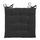 Sedací Vankúš Lola -based- - čierna, textil (40/40/2cm) - Based