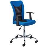 Schreibtischstuhl Donny In Frischem Blau mit Armlehnen - Blau/Chromfarben, Basics, Kunststoff/Metall (55/85 - 95/54,50cm) - MID.YOU