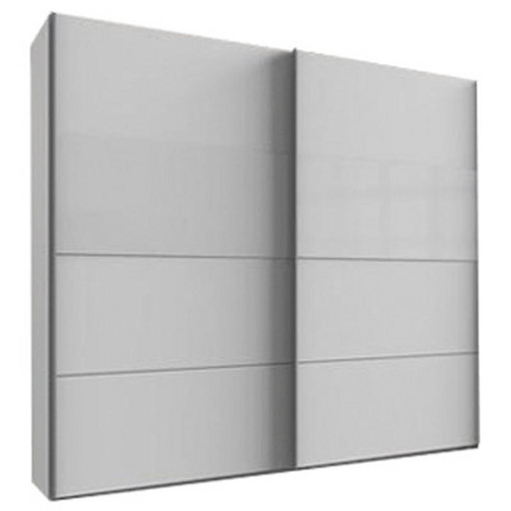 skříň s posuvnými dveřmi Bramfeld,bílá/sklo Bílé