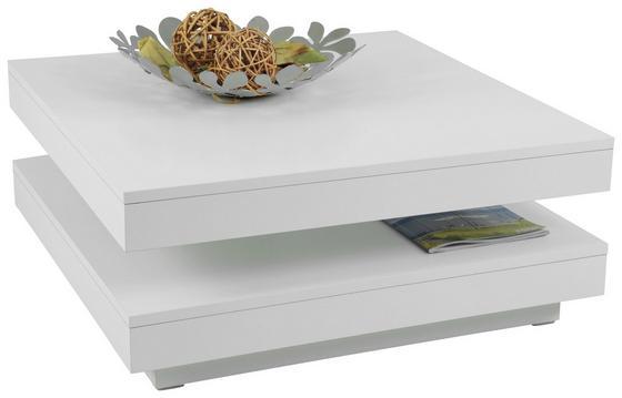 Funktionaler Couchtisch Ben mit drehbarer Tischplatte - Weiß, MODERN, Holzwerkstoff (78/34/78cm)