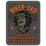 Dekoschild Blechschild Biker Dad - Multicolor, Basics, Metall (17/22cm)