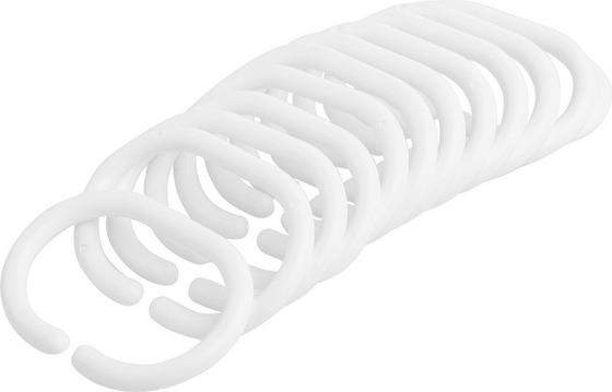 Duschvorhangringe Robbie, 12 -teilig - Weiß (5/6cm)
