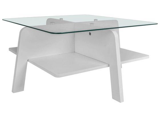 Konferenčný Stolík Yolo - biela/číre, Moderný, kov/kompozitné drevo (70/31,5/70cm) - Mömax modern living