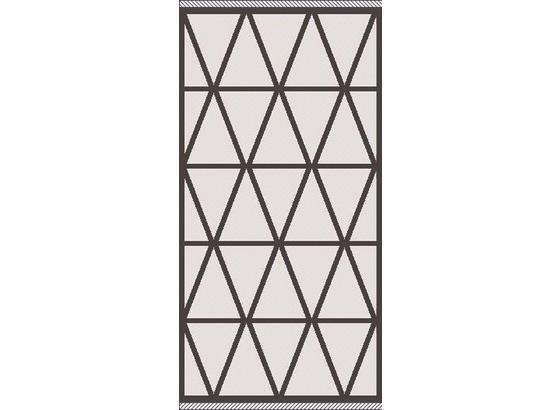Koberec Tkaný Na Plocho Phoenix 1 - barvy stříbra/antracitová, Moderní, textil (80/150cm) - Modern Living