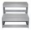 Whirlpool Acryl Florenz Set 200 X 91 X 200 cm - Weiß/Grau, MODERN, Holz/Kunststoff (200/91/200cm)