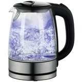 Wasserkocher Deski - Edelstahlfarben/Schwarz, MODERN, Glas/Kunststoff (24cm)