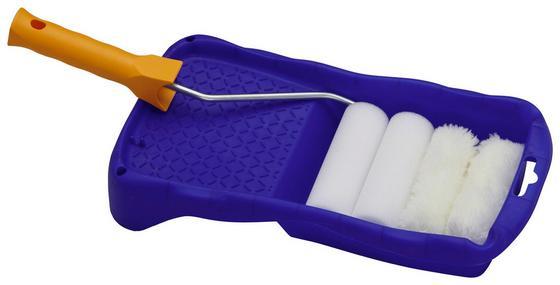 Farbrollerset 6-teilig - KONVENTIONELL, Kunststoff/Metall (10cm) - Gebol