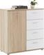 Komoda Alva 2 - bílá/Sonoma dub, Moderní, dřevěný materiál (89/91/38cm) - Mömax modern living
