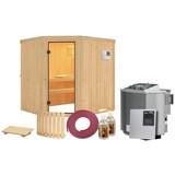 Bio-Sauna Toulon mit externer Steuerung (Kombi-Sauna) - Naturfarben, MODERN, Holz (196/198/178cm) - Karibu