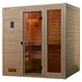 Sauna Valida Plus Sparset mit Integr. Ofensteuerung - Naturfarben, MODERN, Glas/Holz (189/203,5/172cm)