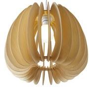Závesná Lampa Simona - přírodní barvy/béžová, Moderní, dřevo (37cm) - MODERN LIVING