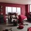 Tienidlo Na Svetlo Love - bobuľová, Romantický / Vidiecky, textil (20cm) - Modern Living