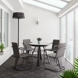 Záhradný Set Christina - tmavě šedá, Moderní, kov/umělá hmota - Modern Living