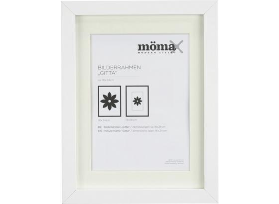 Rám Na Fotky Gitta - biela, Moderný, kompozitné drevo/sklo (18/24/3,6cm) - Mömax modern living
