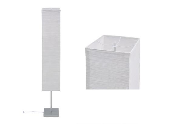 Stojacia Lampa Antonio V: 159cm, 40 Watt - biela/strieborná, Konvenčný, kov/papier (25/159/25cm) - Mömax modern living