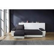 Wohnlandschaft In L-Form Milano 270x160cm - Chromfarben/Dunkelgrau, Basics, Leder/Textil (270/90/160cm)