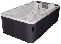 Whirlpool Acryl Swimspa Fano 400 X 228 X 126 cm - Silberfarben/Weiß, Design, Kunststoff (400/228/126cm)