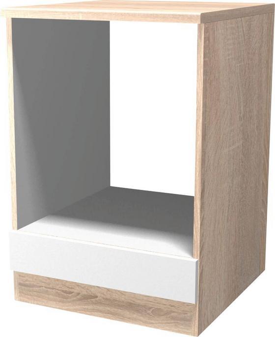 Skříňka Na Sporák Samoa  Hu 60 - bílá/barvy dubu, Konvenční, kompozitní dřevo (60/85/57cm)