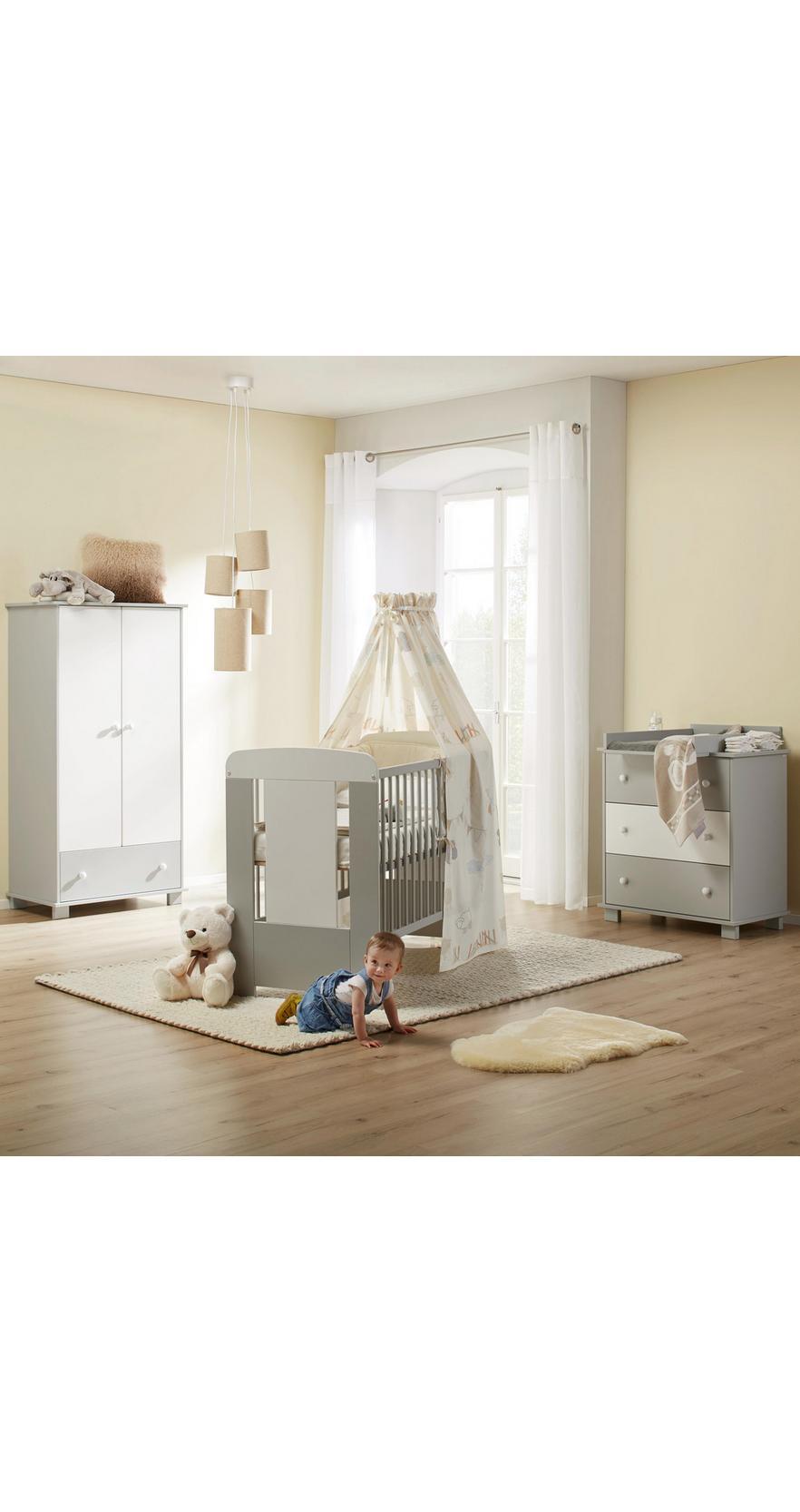 098198a91c5 Izba Pre Bábätká Kitty - sivá/biela, Moderný, drevo - Mömax modern living