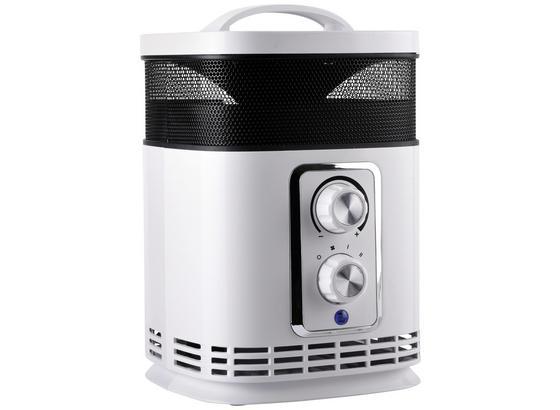Ohrievač/ventilátor Roni - svetlosivá, Moderný, umelá hmota (19,5/14,9/23cm)