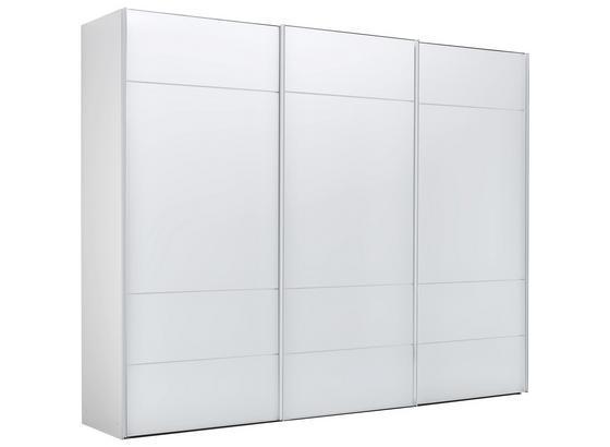 Skříň S Posuvnými Dveřmi Sonate Lucca - bílá, Lifestyle, kompozitní dřevo/sklo (298/222/68cm) - Premium Living