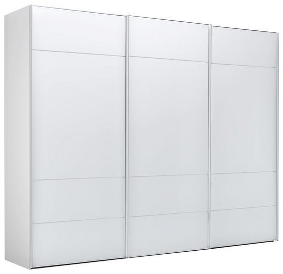 Skriňa S Posuvnými Dvermi Sonate Lucca - biela, Štýlový, kompozitné drevo/sklo (249/222/68cm) - Premium Living