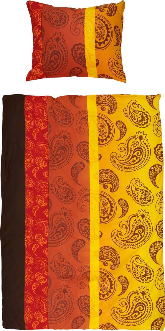 Bettwäsche Emma - Gelb/Rot, MODERN, Textil (140/200cm)