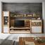 Vitrine Kashmir New B:100cm inkl. LED-Beleuchtung - Klar/Eichefarben, MODERN, Glas/Holzwerkstoff (100/120/41cm) - James Wood