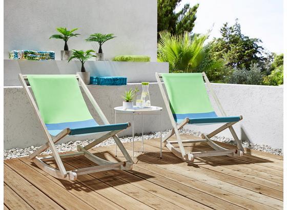 Záhradné Relaxačné Kreslo Bali - modrá/biela, drevo/textil (59/79/107cm) - Mömax modern living