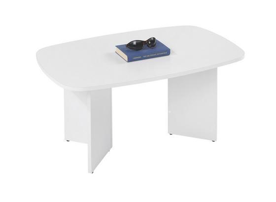 Dohányzóasztal Magic - Fehér, konvencionális, Fa (90/43/57cm)