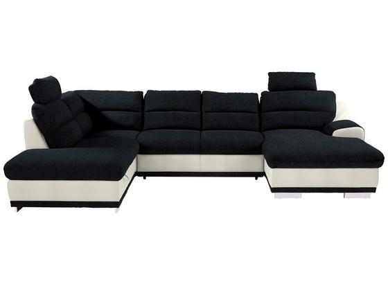 Sedacia Súprava Seaside - čierna/biela, Konvenčný, textil (218/334/165cm) - Luca Bessoni