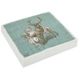 Serviette Deer Family - Türkis/Grau, Basics, Papier (33/33cm)