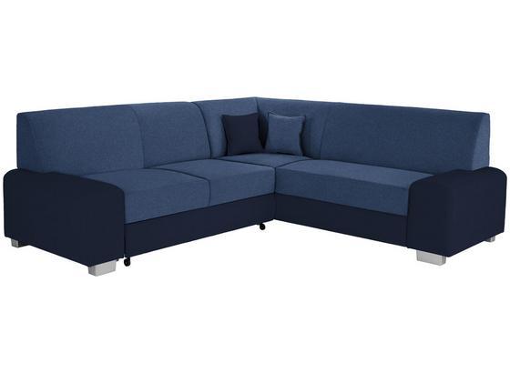 Sedací Souprava Miami - modrá/antracitová, Basics, dřevo/textil (260/210cm) - Ombra