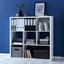 Regal Basic - biela, Moderný, drevo (110/110/29,5cm) - Modern Living