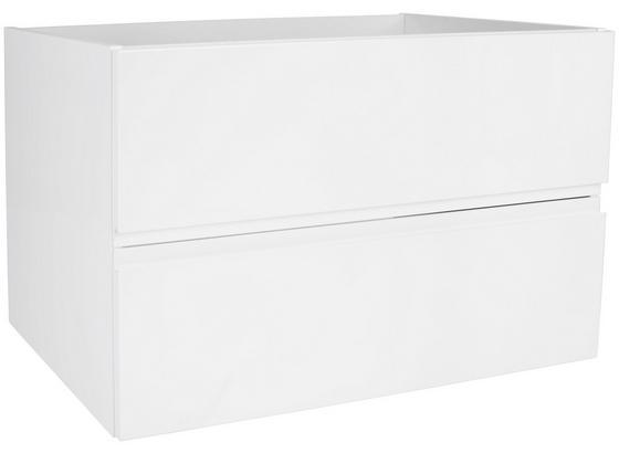 Skrinka Pod Umývadlo Tress Ii - biela, Konvenčný, kompozitné drevo/keramika (80/51,5/45cm) - Luca Bessoni