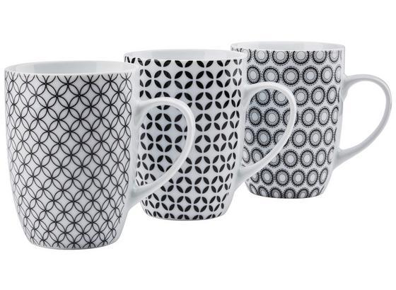 Hrnček Na Kávu Samy - čierna/biela, keramika (8,3/10,5cm) - Mömax modern living