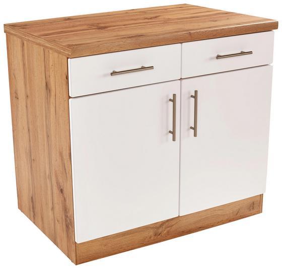 Küchenunterschrank stella us100 eichefarben weiß holzwerkstoff 100 86 55cm