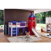 Kinderkissen Blau/rot - Blau/Rot, Design, Textil (90/20/30cm)