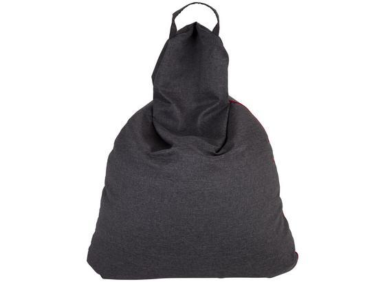 Sitzsack Triangel XL - Rot/Hellgrau, Basics, Textil (100/120/140cm) - Ombra