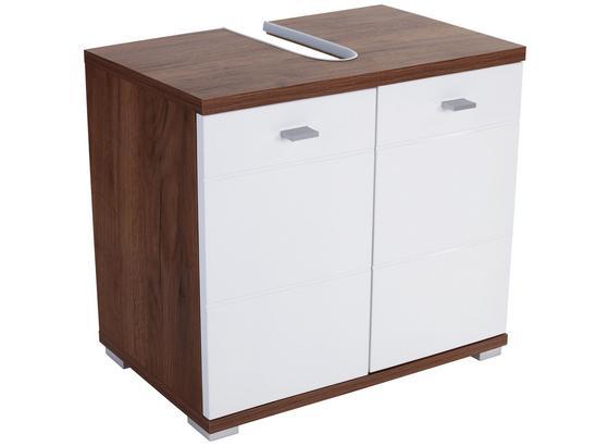 Skrinka Pod Umývadlo Bari - farby dubu/biela, Konvenčný, kompozitné drevo/plast (70/60/32cm)