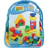 Unico Plus Bausteine 65 Stück Im Kunststoffrucksack - Blau/Gelb, Kunststoff - Unico Plus