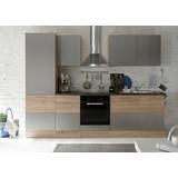 Kuchyňská Linka Welcome 7 Inox - barvy dubu/barvy hliníku, Moderní, dřevěný materiál (280/211/60cm)