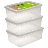 Aufbewahrungsboxen-Set Bea 3er Set - Transparent, Kunststoff (39/26,5/14cm)