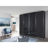 Skříň S Posuvnými Dveřmi Bensheim 271x230cm - šedá/barvy grafitu, Moderní, dřevěný materiál (271/230/62cm) - James Wood