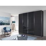 Skříň S Posuvnými Dveřmi Bensheim 361x230cm - šedá/barvy grafitu, Moderní, dřevěný materiál (361/230/62cm) - James Wood